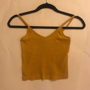 Cropped Mustard Yellow Tank Top